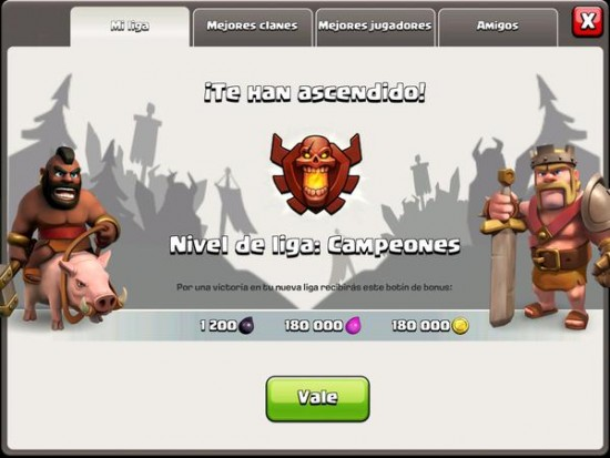 Clash of Clans Liga de Campeones