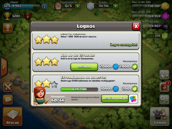 2000 gemas premio Clash of Clans